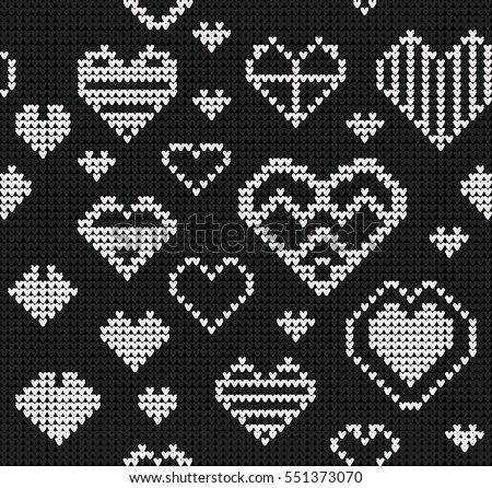 Template Stylized Knit Texture Vector Black Stock Vector (Royalty ...