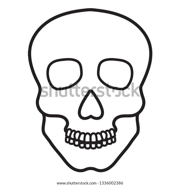 Sugar Skull Drawing Template from image.shutterstock.com