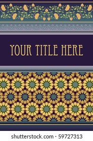template for title page made using traditional decorative elements