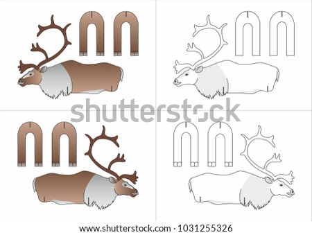 template toy north deer made paper stock vector royalty free