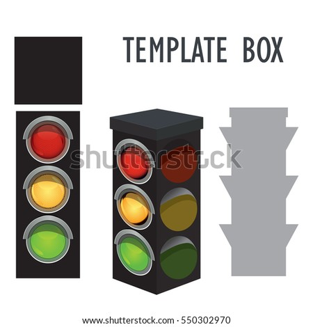 template traffic light out paper pattern stock vector royalty free