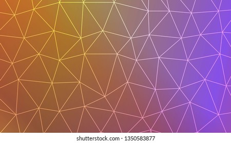 Template with triangles. Gradient color. Design for you business. Vector illustration. Blur Sweet Dreamy Gradient Color Background
