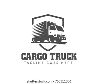 A template of Truck Logo, cargo, delivery, Logistic