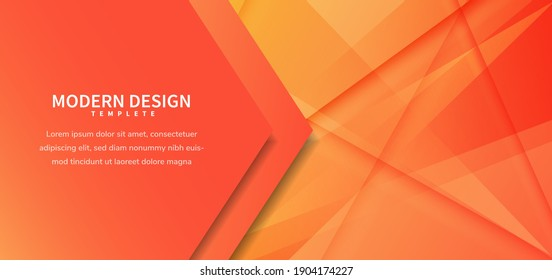 Template vector. Abstract orange diagonal background for business, banner, for announcement. Vector illustration