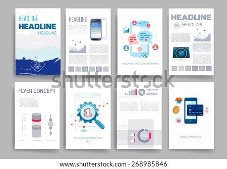 template vector brochure design templates collection のベクター画像