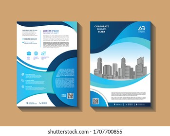 Template vector design for Brochure, Annual Report, Magazine, Poster, Corporate Presentation, Portfolio, Flyer, layout