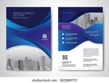 Template vector design for Brochure, Annual Report, Magazine, Poster, Corporate Presentation, Portfolio, Flyer, infographic, layout modern size A4, Front and back, Easy to use and edit.
