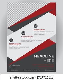 Template Vector Design For Brochure, AnnualReport, Magazine, Poster, Corporate Presentation, Flyer, Illustration In A4 Size