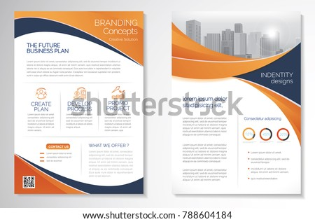 Template Vector Design Brochure Annual Report Magazine Image