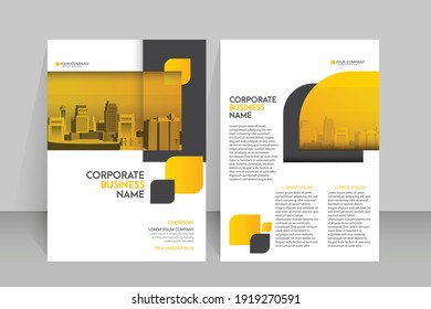 Template vector design for Brochure ,Poster, Corporate Presentation, Portfolio, Flyer, layout modern with color size A4, Front and back, Easy to use and edit