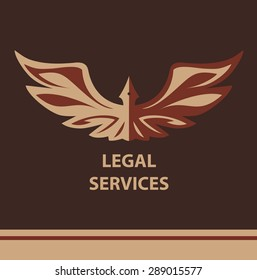 Template vector logo for legal services, notary organization.