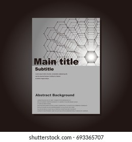 It is a template of vector material that can be used in business. Cover design