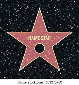 Template Walk of Fame. Vector.