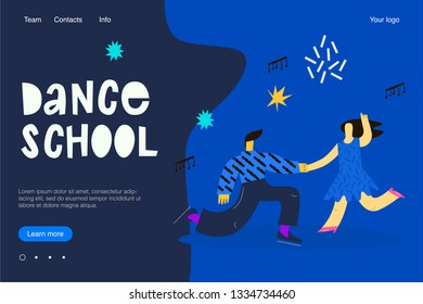 Template web page dance school