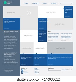 Template web site, built on the sixteen column grid, metro style. Info graphics or website layout vector,