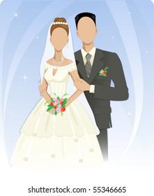 Template of wedding couple