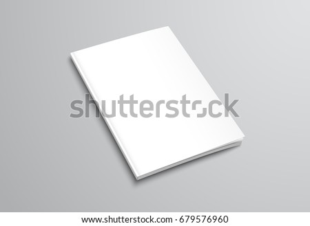 template white blank brochure on gray のベクター画像素材