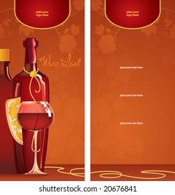 template of wine list