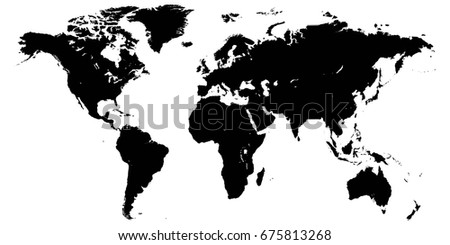 template world map planet earth silhouettes stock vector royalty