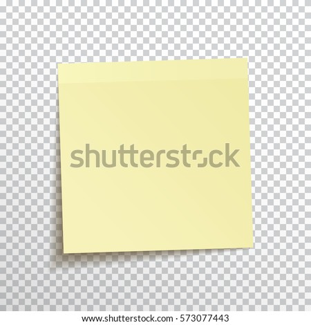 Template Yellow Sticky Note Isolated On Stock Vector (Royalty Free ...
