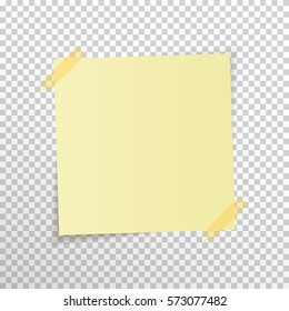 sticky note isolated on transparent background stock vector royalty