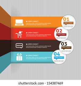 Template for your business presentation with arrows and text areas (info graphic)
