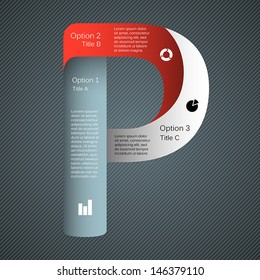 Template for your business presentation with letter and text areas (info graphic)