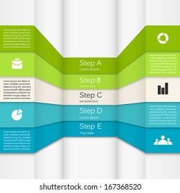 Template for your business presentation with text areas (info graphic)