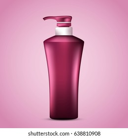 Template for your design. Cosmetic Bottle. Vector illustration