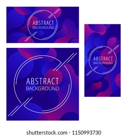 templates in abstract style with colorful background and sample text for corporate identity flyer