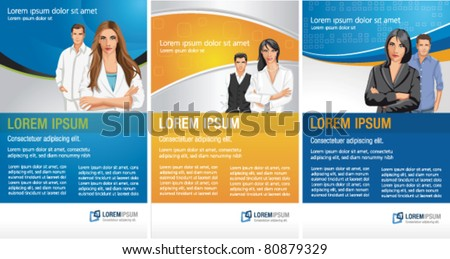Templates advertising brochure flyers business people stock vector templates for advertising brochure flyers with business people accmission Image collections