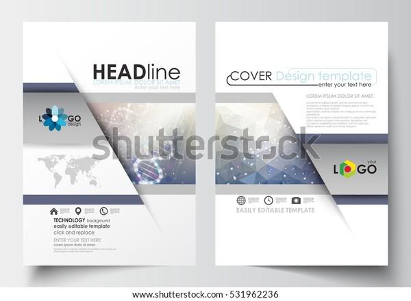 Templates Brochure Magazine Flyer Booklet Cover Stock Vector