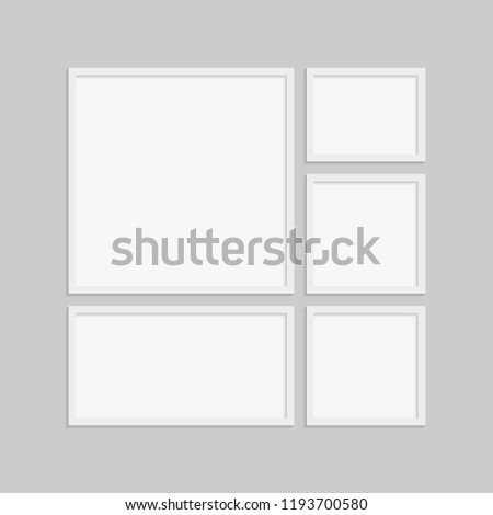 Templates Collage Five Frames Photo Illustration Stock Vector ...