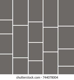 Templates collage frames for photo or illustration, moodboard. Vector