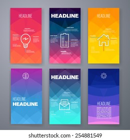 Templates. Design Set of Web, Mail, Brochures. Mobile, Technology, and Infographic Concept.  SaaS, web app design template. Mobile interface. UI template. Web UI app design.