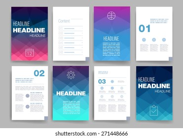Templates. Design Set of Web, Mail, Brochures. Mobile, Technology, and Infographic Concept. Modern flat and line icons. SaaS, web app design template. Mobile interface. UI template. Web UI app design