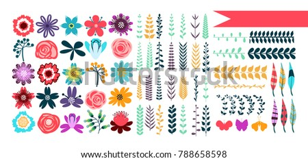 Templates greeting cards scrapbooking vector collection stock vector templates for greeting cards and scrapbooking vector collection with spring and summer elements flowers m4hsunfo