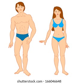 Templates of human's figure. Vector illustration.