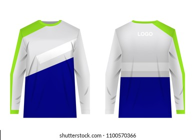 Templates jersey for MTB. Jersey for motocross, extreme cycling, downhill. Sublimation print. Sportswear design. Design for competition, championship, team wearing.