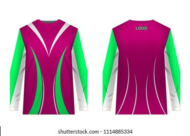 Templates jersey for sublimation print. Sportswear design. Design for competition, team wearing, training.