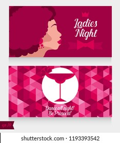 template ladies night party flyer bachelorette stock vector royalty