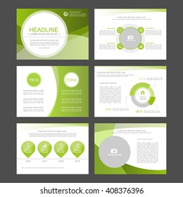 Templates for leaflet,flyer,presentation,advertising,web,marketing and infographics. Business infographics set. Vector illustrations. green version