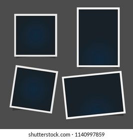 Templates for photo, Polaroid  photo frame vector