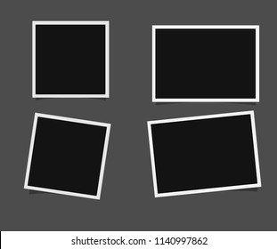 Templates for photo, Polaroid frame vector