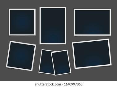 Templates for photo, Polaroid frame vector