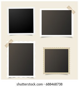 Polaroid collage images stock photos vectors shutterstock templates for photo polaroid frame vector maxwellsz