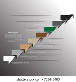 Templates for presentation, business concept with  steps or processes