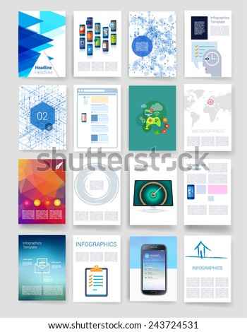 templates set flyer brochure design templates stock vector royalty