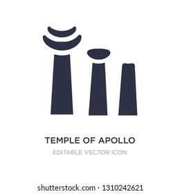 temple of apollo icon on white background. Simple element illustration from Monuments concept. temple of apollo icon symbol design.