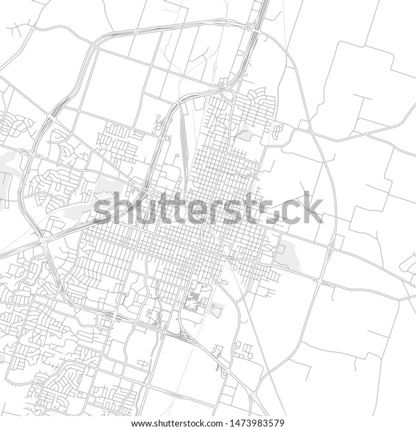 Temple Texas Usa Bright Outlined Vector Stock Vector Royalty Free